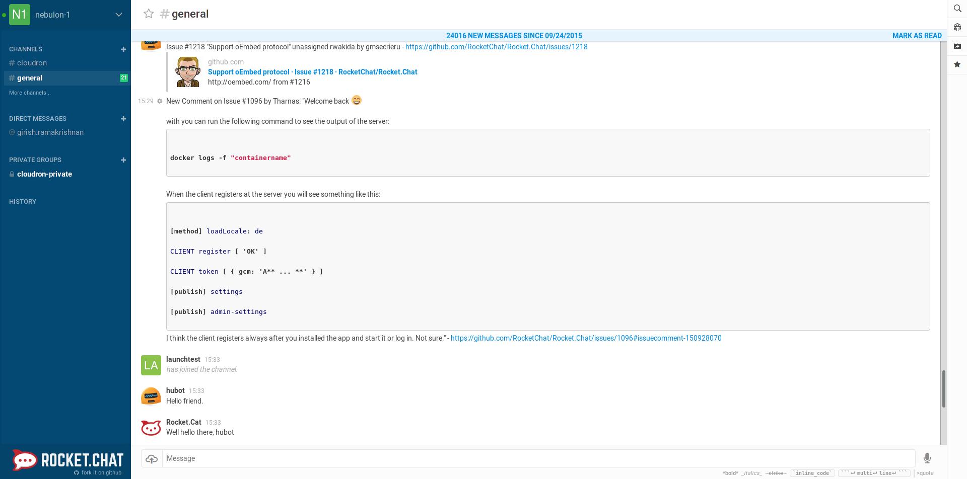 Rocket.Chat Screenshot 2