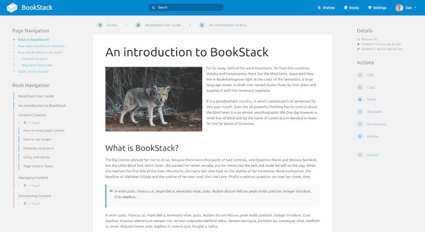 BookStack Screenshot 3