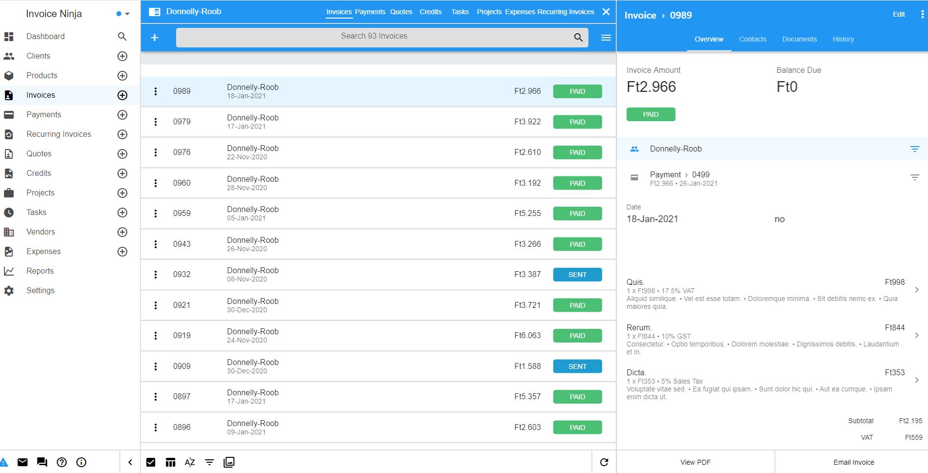 Invoice Ninja v5 Screenshot 1