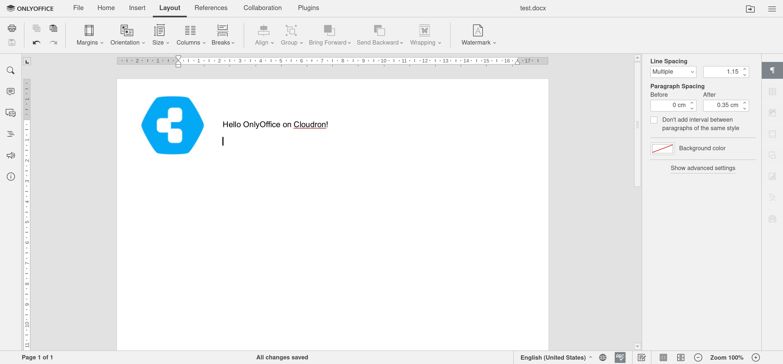 ONLYOFFICE Docs Screenshot 1
