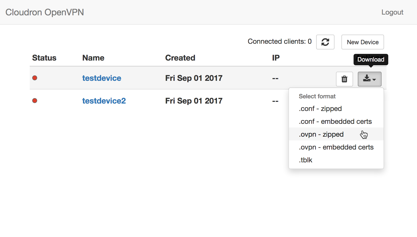 OpenVPN Screenshot 1