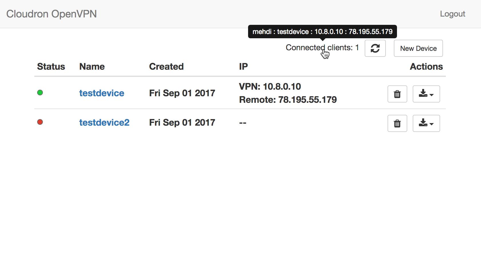 OpenVPN Screenshot 2
