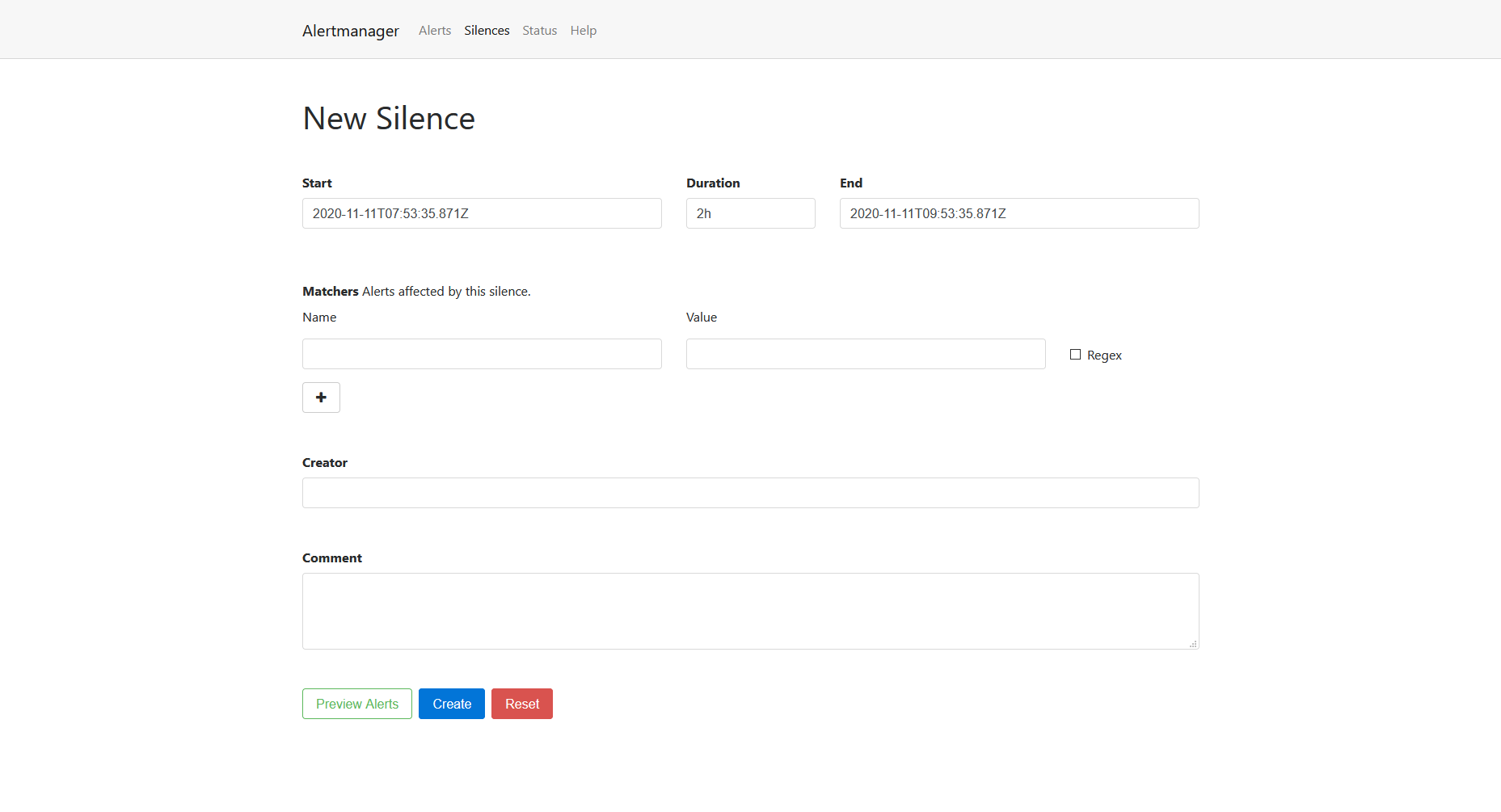 Prometheus Alertmanager Screenshot 1