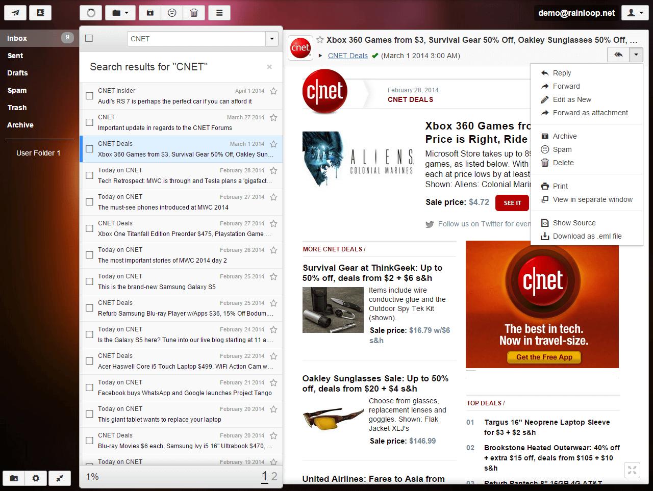 RainLoop Screenshot 1