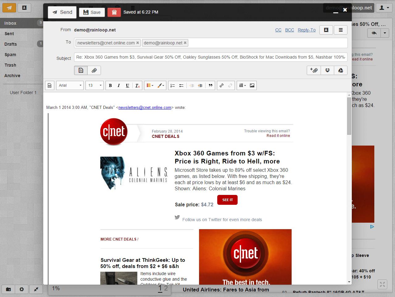 RainLoop Screenshot 2