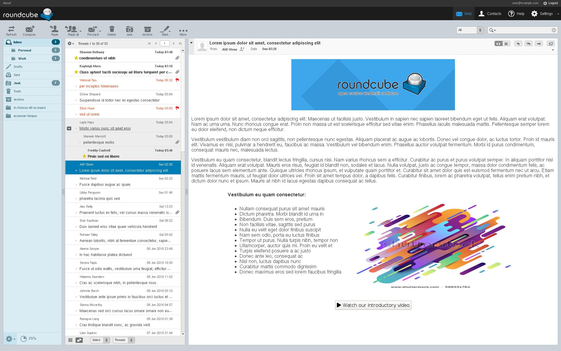 Roundcube Screenshot 1