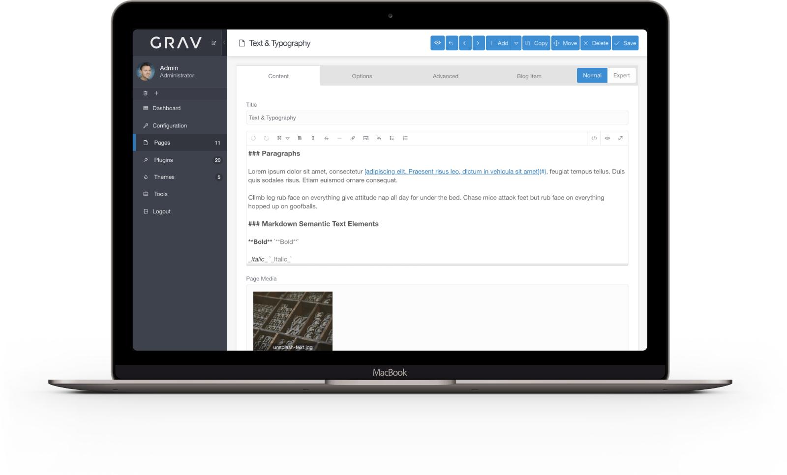 Grav Screenshot 3