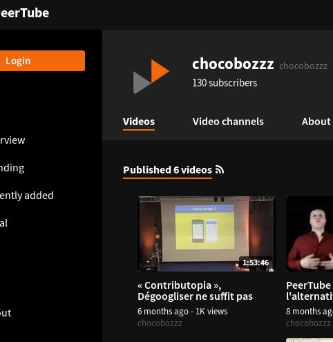 PeerTube Screenshot 2