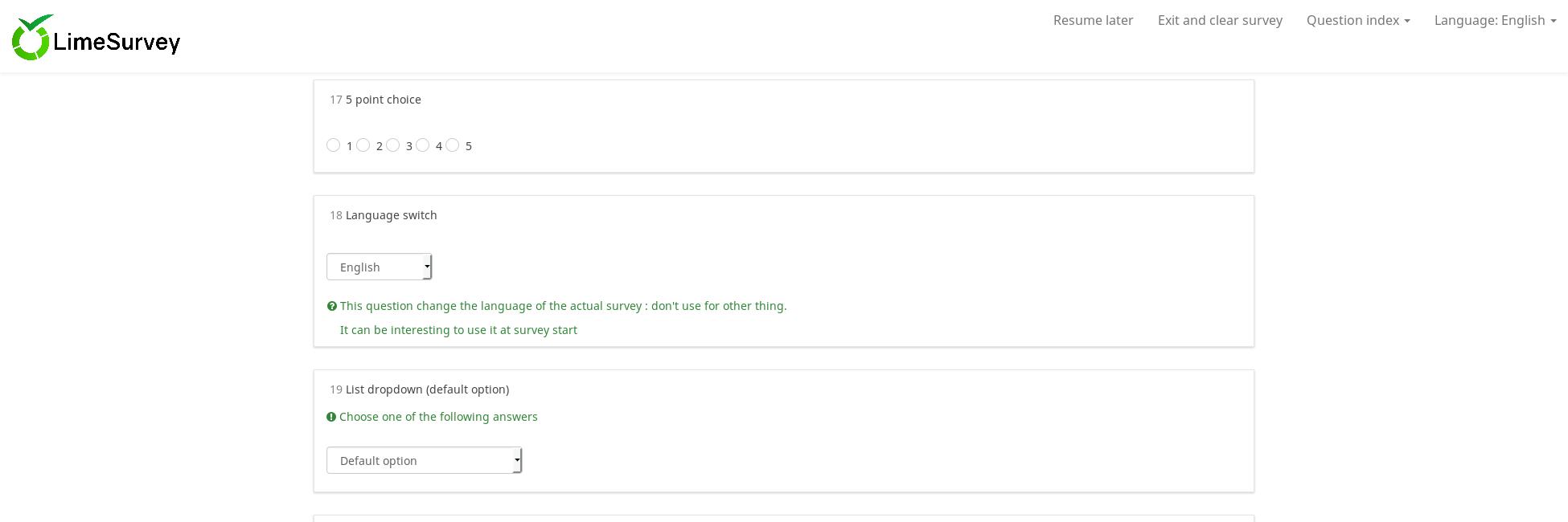 LimeSurvey CE Screenshot 4