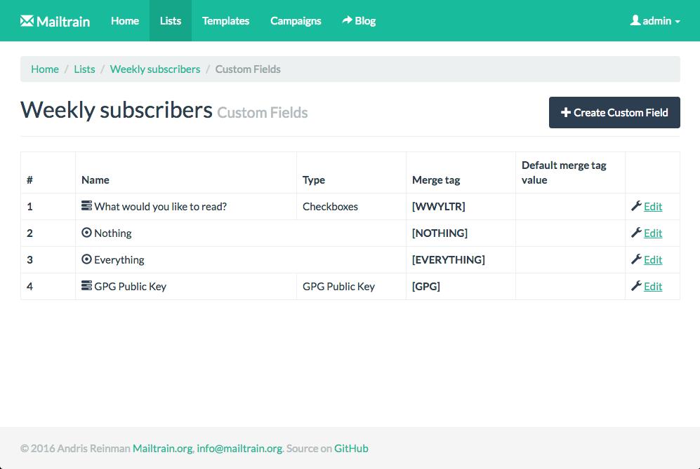 Mailtrain Screenshot 3