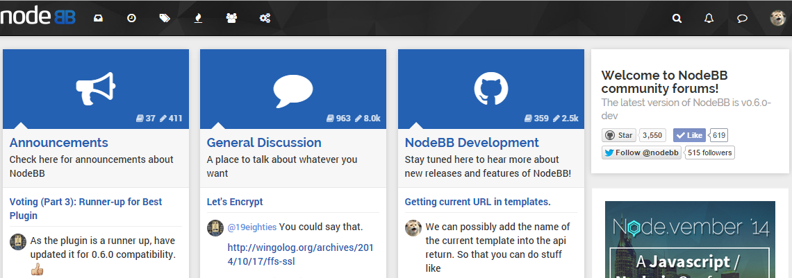 NodeBB Screenshot 1