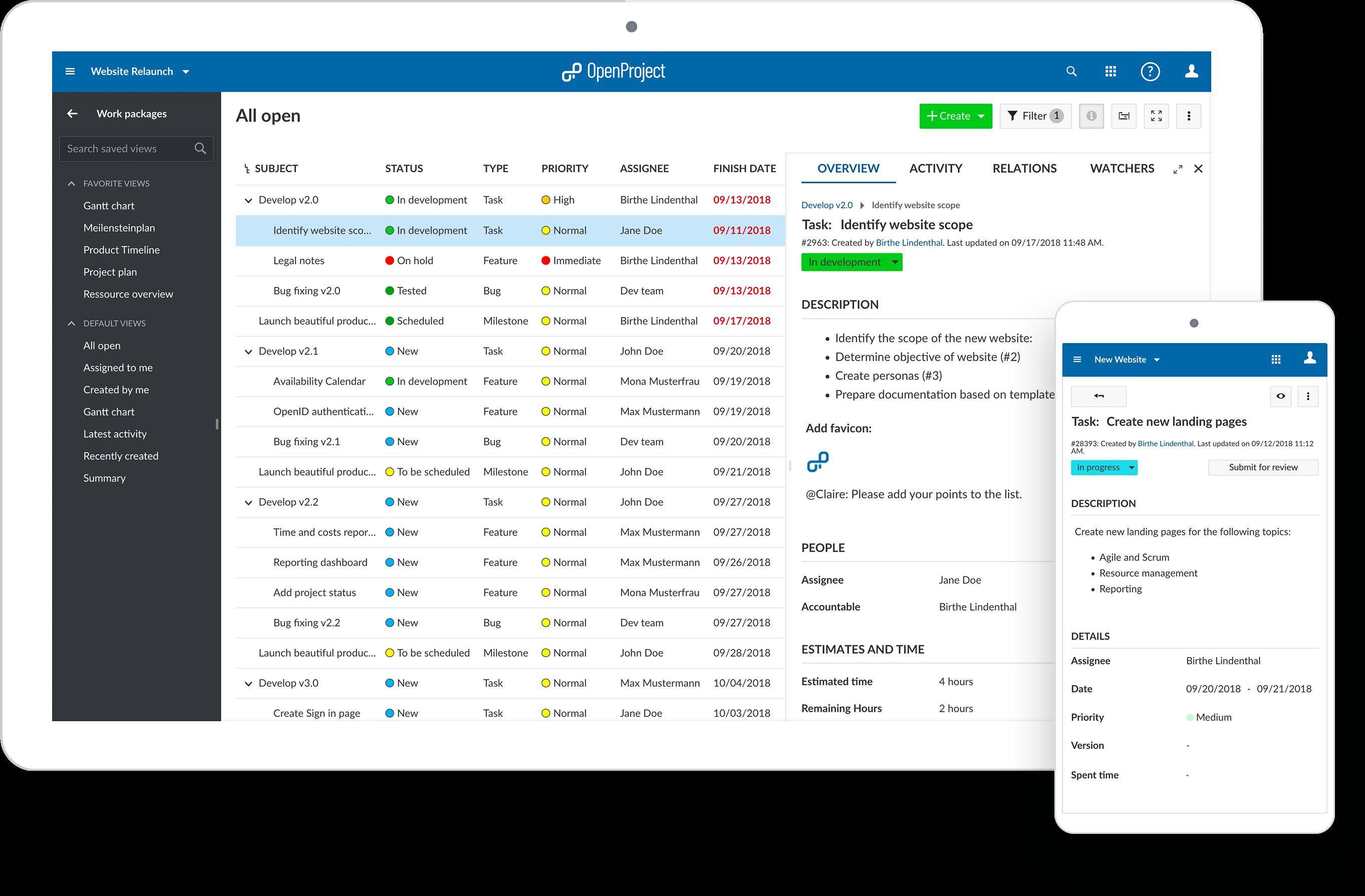 OpenProject Screenshot 3