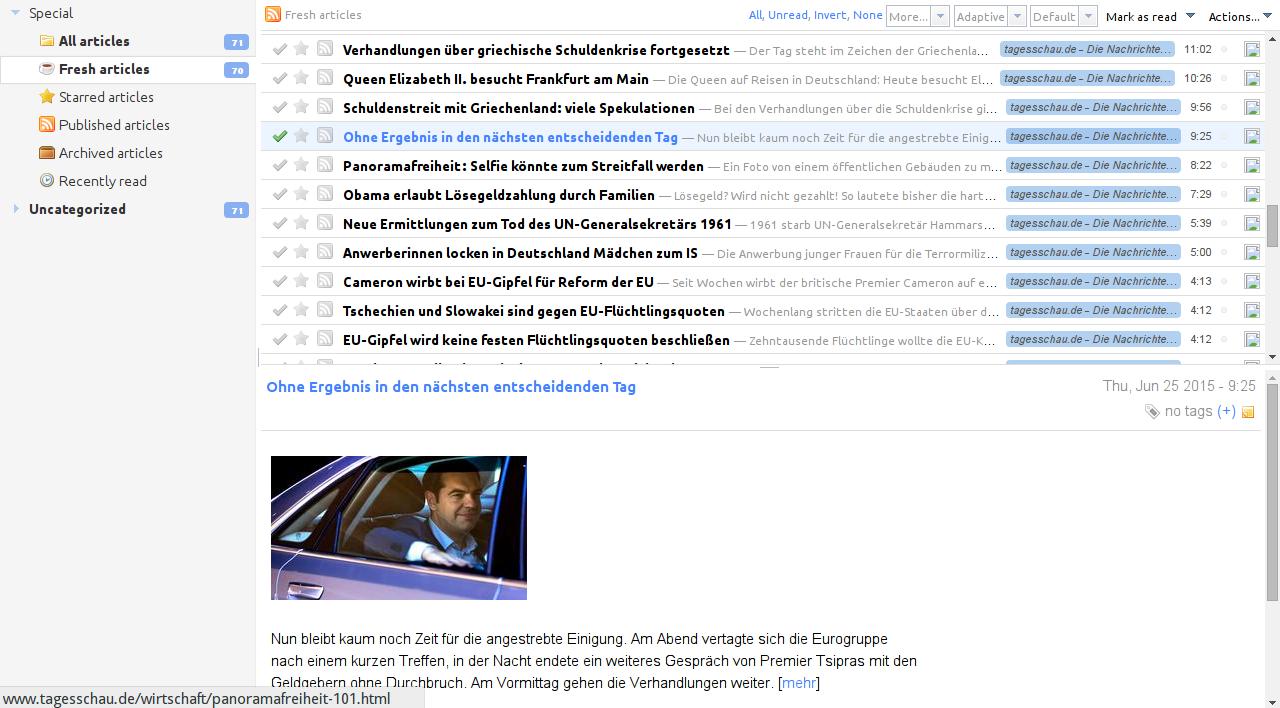 Tiny Tiny RSS Screenshot 3