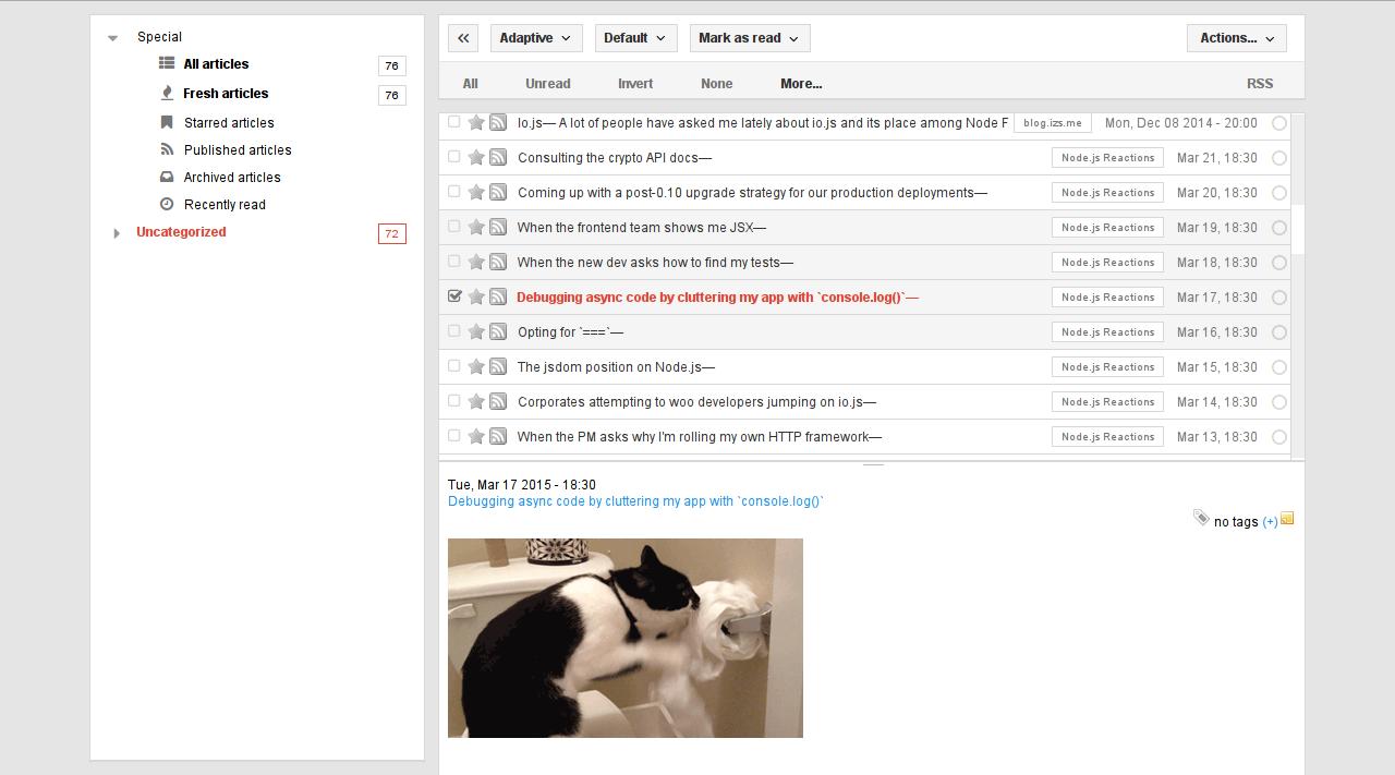 Tiny Tiny RSS Screenshot 4