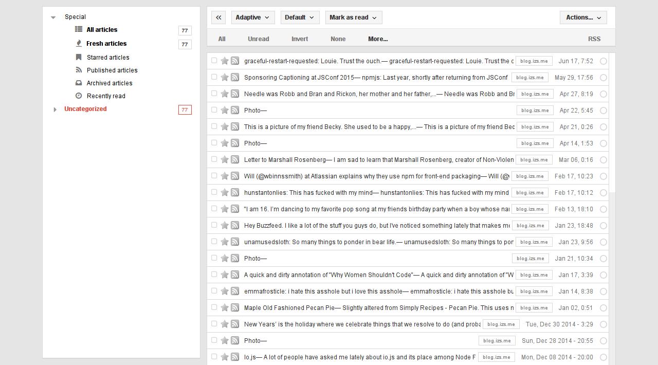 Tiny Tiny RSS Screenshot 5